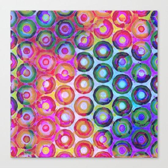 Rainbow Circle Sea Canvas Print