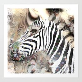 Zebra matrix Art Print
