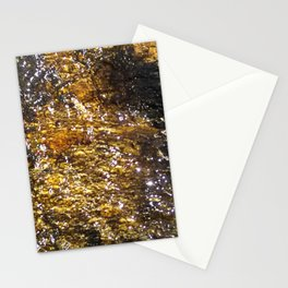 Water On Dark Stone Stationery Cards