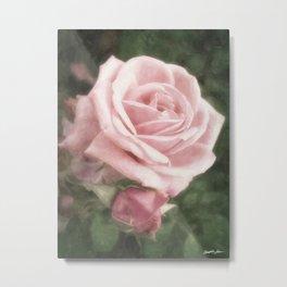 Pink Roses in Anzures 2 Nostalgic Metal Print