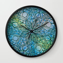 Detail of watercolour pattern Wall Clock