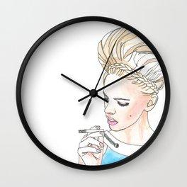 cigaret girl Wall Clock