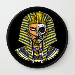 Egyptian Pharaoh Skull Wall Clock