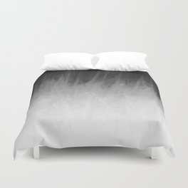 Ice Rays in a Black Sky Duvet Cover