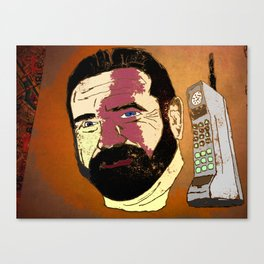 Billy Mays here calling you about my life-altering port-wine stain.  Canvas Print