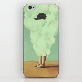 Magritte's Bowler Hat iPhone Skin