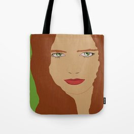 Red hair and Green eyes  Tote Bag