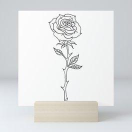 Rose Stem Illustrations Mini Art Print