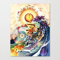 Japan Earthquake 11-03-2011 Canvas Print