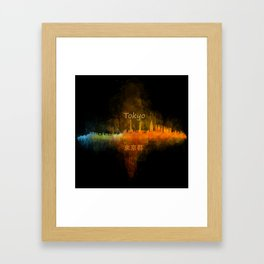 Tokyo City Skyline Hq V4 Framed Art Print