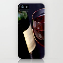 Red  Wine and Wine Glass Photograph iPhone Case