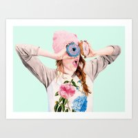 donuts Art Prints featuring Donuts by Carlos ARL