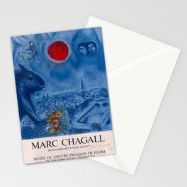 retro marc chagall   peintures récentes. 1978 Stationery Cards