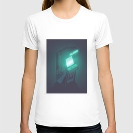 Polybius Arcade Game Machine Cabinet - Isometric Black T-shirt
