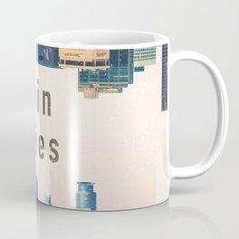 Twin Cities | Minneapolis and Saint Paul Minnesota Skylines | City Collage Coffee Mug