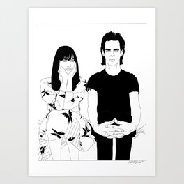 Nick and Susie Cave Art Print