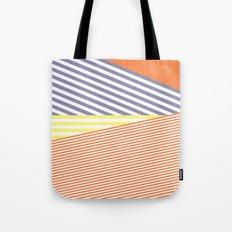 Orange Crush Lines Tote Bag