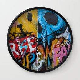 Urban Street Art: RISE & FALL Wall Clock