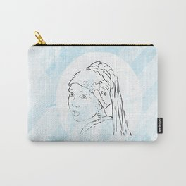 girl with pearl earring... grunge Carry-All Pouch
