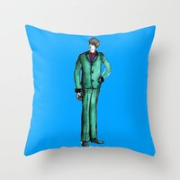 givenchy Throw Pillows featuring Beetles Green Dandy by Notsniw