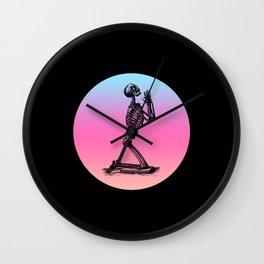 Classic Retro Design Praying Skeleton Wall Clock