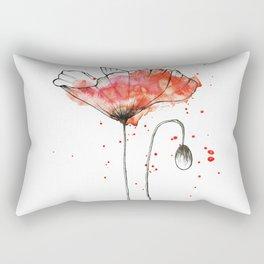 Watercolor popy Rectangular Pillow