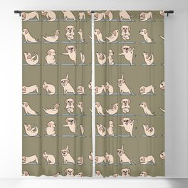 Labrador Retriever Yoga Blackout Curtain