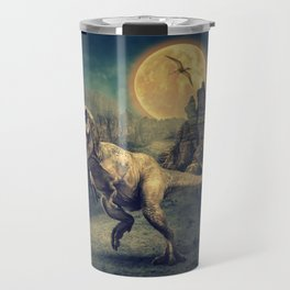 Dinosaurs in the ruins by GEN Z Travel Mug