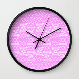 RIGHT AND WRONG III: PINK NIGHTMARE Wall Clock
