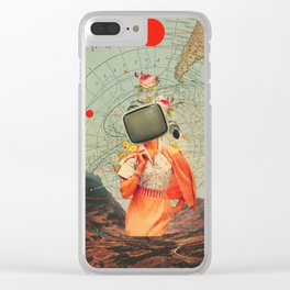 Antarctic Broadcast Clear iPhone Case