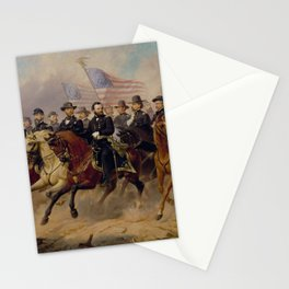 Grant and His Generals Painting Stationery Cards