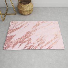 Pastel pink rose gold Rug