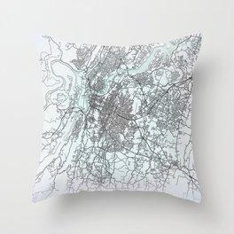 Chattanooga, TN, USA, White, City, Map Throw Pillow