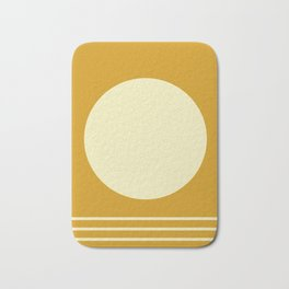 Summer Bright Golden Yellow Bath Mat