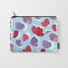 Blooming Painterly Carry-All Pouch