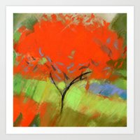 Orange Tree (square) Art Print