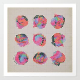 T.VARIATIONS (everyday 8.25.15) Art Print