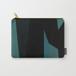 teal and black abstract Carry-All Pouch