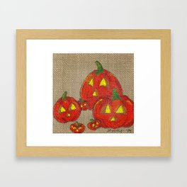 Lantern Patch Framed Art Print