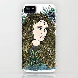 Golden Lady Moon iPhone Case