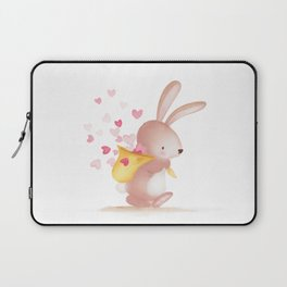 Woodland Critters - Bunny with Sack of Hearts Laptop Sleeve