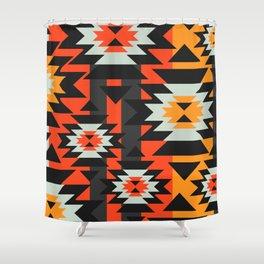 Aztec Geometry Shower Curtain