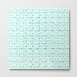 White hen on blue sky Metal Print