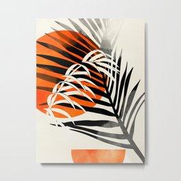 leaves tropical minimalism Metal Print