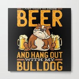 Bulldog English Bulldog Bulldogs Metal Print
