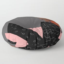 shapes and montains Floor Pillow