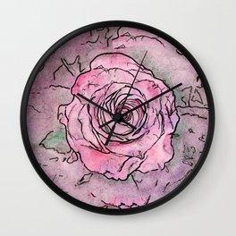Crimson Rose Wall Clock