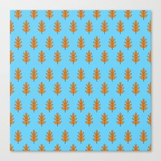 Oak Leaf Pattern Canvas Print