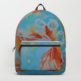 GoldFish Bubbles 1se watercolor by CheyAnne Sexton Backpack