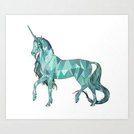 Unicorn prism Art Print